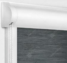 Рулонные кассетные шторы УНИ - Корсо блэкаут темно-серый