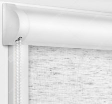 Рулонные кассетные шторы УНИ - Сахара белый