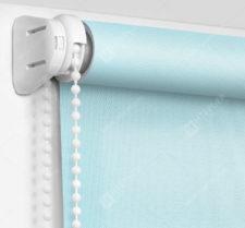 Рулонные шторы Мини - Аллегро перл голубой