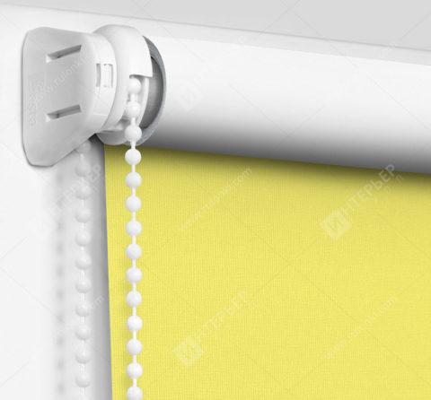 Рулонные шторы Мини - Карина Блэкаут светло-желтый