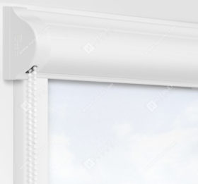 Рулонные кассетные шторы УНИ - Куба белый