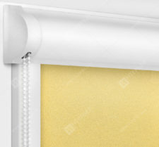 Рулонные кассетные шторы УНИ - Куба желтый