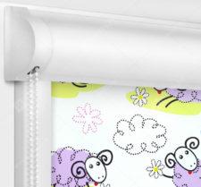 Рулонные кассетные шторы УНИ - Овечки блэкаут