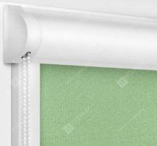 Рулонные кассетные шторы УНИ - Мадагаскар светло-зеленый