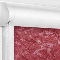 Рулонные кассетные шторы УНИ - Шелк бордовый