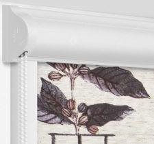 Рулонные кассетные шторы УНИ - Арабика блэкаут бежевый на пластиковые окна