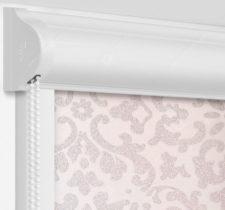 Рулонные кассетные шторы УНИ - Палау серебро на пластиковые окна
