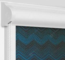 Рулонные кассетные шторы УНИ - Шерни бирюзовый на пластиковые окна