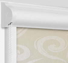 Рулонные кассетные шторы УНИ - Сейшелы бежевый на пластиковые окна
