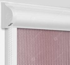 Рулонные кассетные шторы УНИ - Севилья шоколадный на пластиковые окна