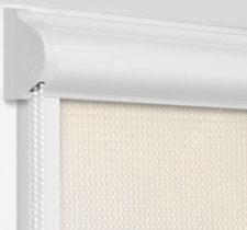 Рулонные кассетные шторы УНИ - Севилья светло-бежевый на пластиковые окна